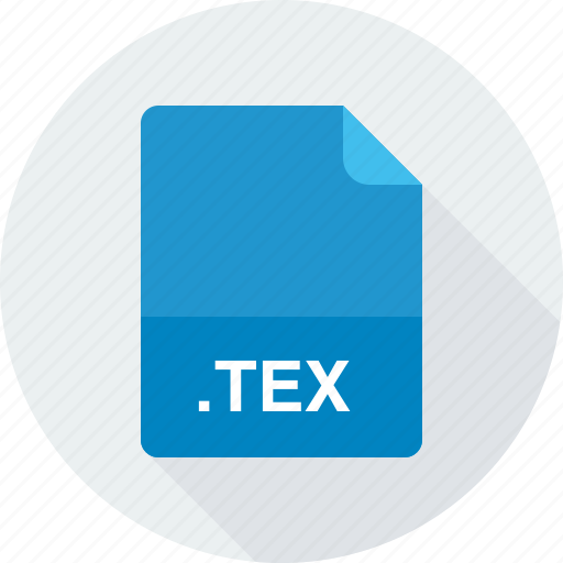 latex source document, tex, text files icon