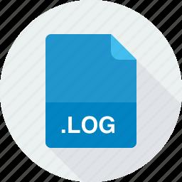 log, log file icon