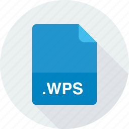 microsoft works word processor document, wps icon