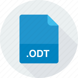 odt, opendocument text document icon