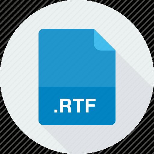rich text format file, rtf icon