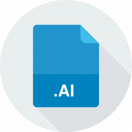 adobe illustrator file, ai, vector image icon