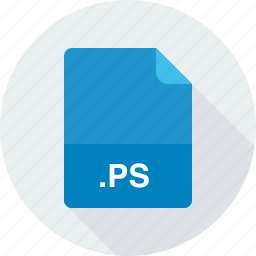 postscript file, ps icon