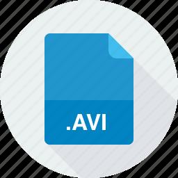 audio video interleave file, avi, video files icon