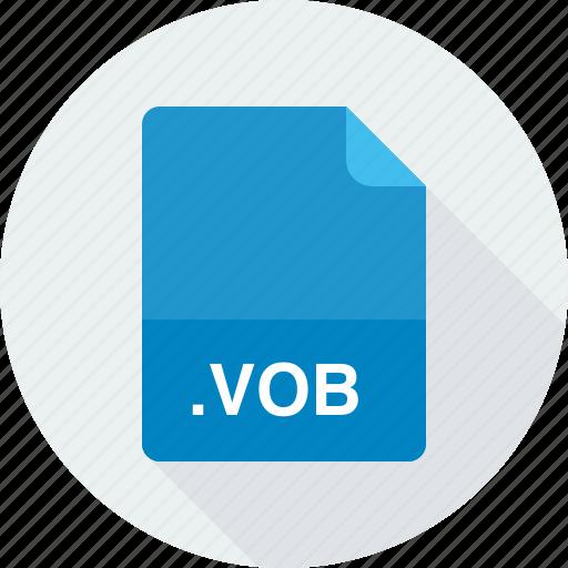 dvd video object file, vob icon