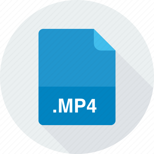 mp4, mpeg-4 video file icon