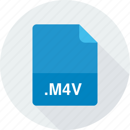 itunes video file, m4v icon