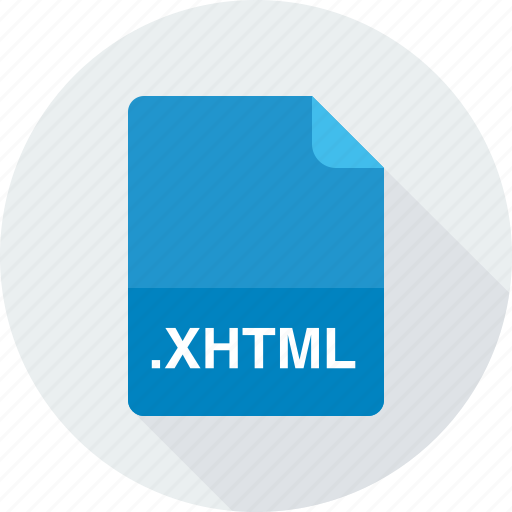 extensible hypertext markup language file, xhtml icon