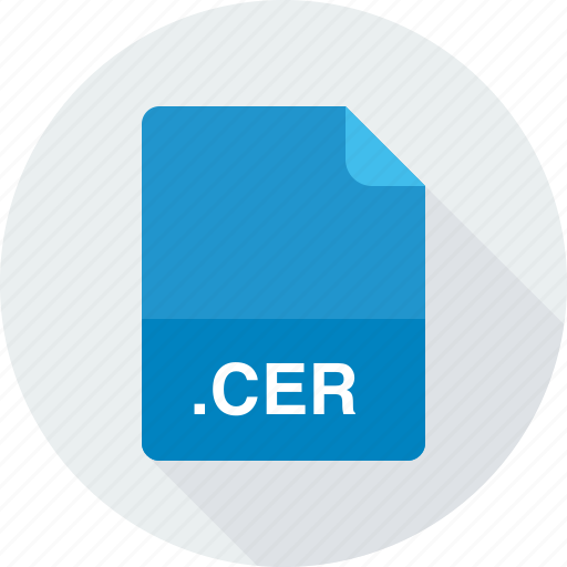 cer, internet security certificate icon