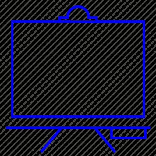 blackboard, business, education, learning icon