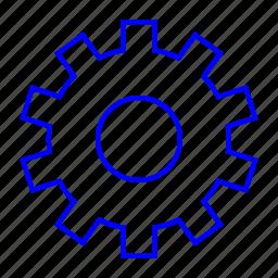 control, gear, setting, tool icon