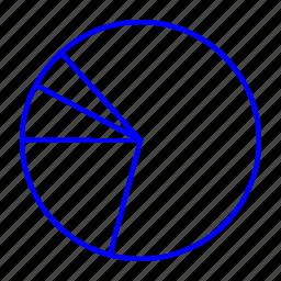 chart, graph, pie, slice icon