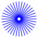 radial, wheel, hole, rays