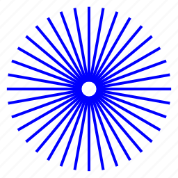 hole, radial, rays, wheel icon