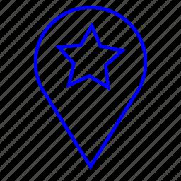 favorites, location, star, tag icon