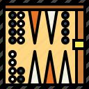 backgammon, board, entertainment, fun icon