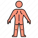anatomy, back, body, male, man, person icon