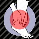pain, ankle, leg, injury, injured, heel, problem
