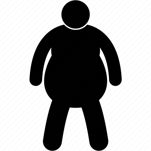 fat, man, obese, overweight, plump, size, weight icon