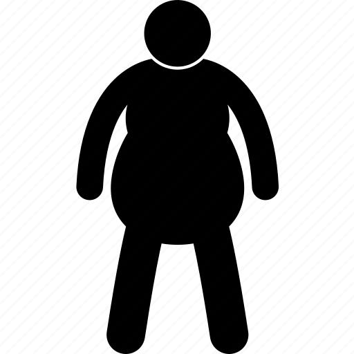 fat, heavy, man, obese, person, size, weight icon