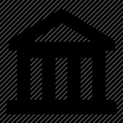 bank, building, column, economics, finance, museum, office icon