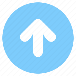 arrow, circle, circled, direcrion, forward, straight, up icon