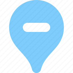 decrease, disable, geography, geotag, map, tag icon