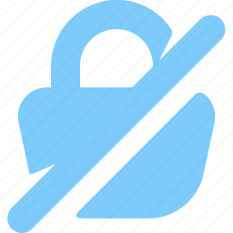 data, disabled, information, lock, padlock, security, unlockled icon