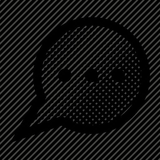 bubble, communication, message, voice icon