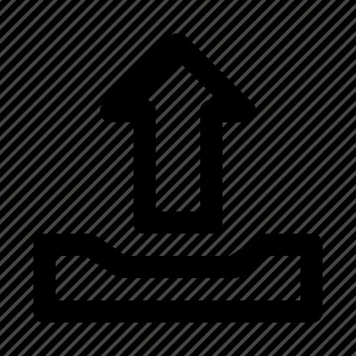 arrow, box, cloud, mail, upload icon
