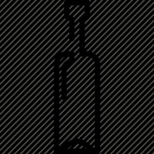 bottle, drinks, food, glass, wine icon