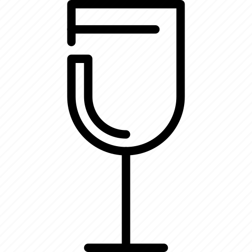 drinks, food, glass, wine icon