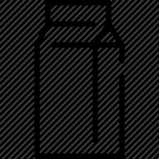 box, drinks, food, milk, paper icon