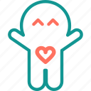 boo, ghost, halloween, love heart, spooky icon