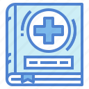 book, health, medical, wellness icon