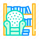 armchair, library, room, furniture, shop, electronic