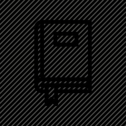 book, bookmark, closed book, cover, school, study, tag icon