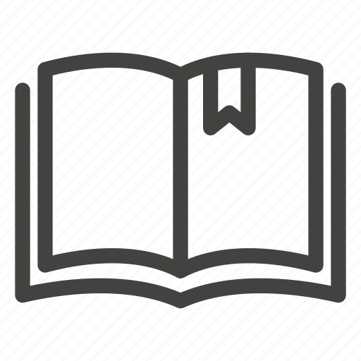 book, bookmark, open, read, study icon