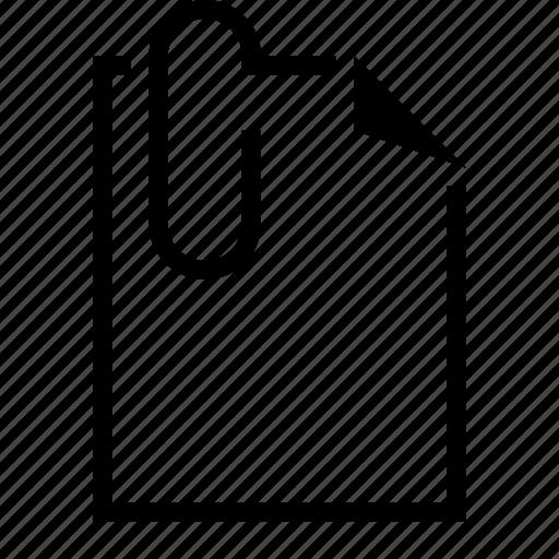 attach, attachment, document, file, paperclip icon