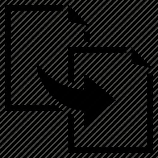arrow, copy, document, file, move, transfer icon