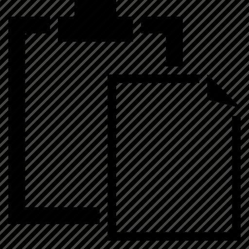 clipboard, document, file, paste, stick icon