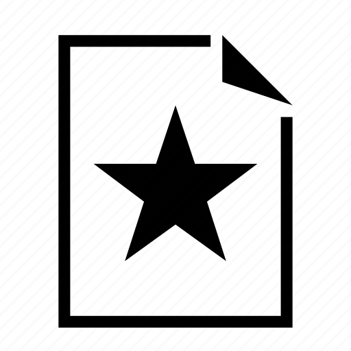 document, file, star icon