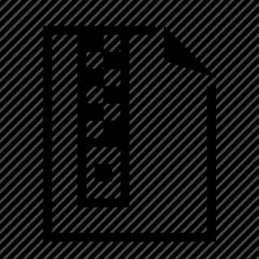 document, file, lock, zip icon