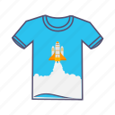 boost, design, growth, launcher, marketing, rocket, tshirt icon