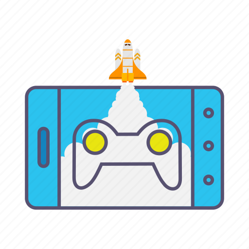 boost, device, game, launcher, marketing, mobile, rocket icon