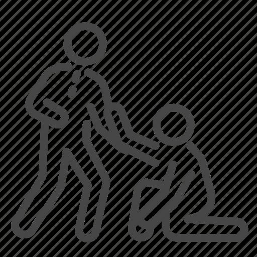 boss help leader leadership support sustain team icon