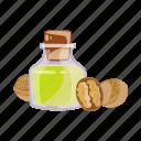 bottle, cooking, food, oil, seasoning, walnut icon
