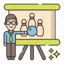 game, bowling, teacher, classes icon