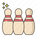 bowling, game, pins, sports