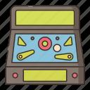 arcade, games, pinball icon